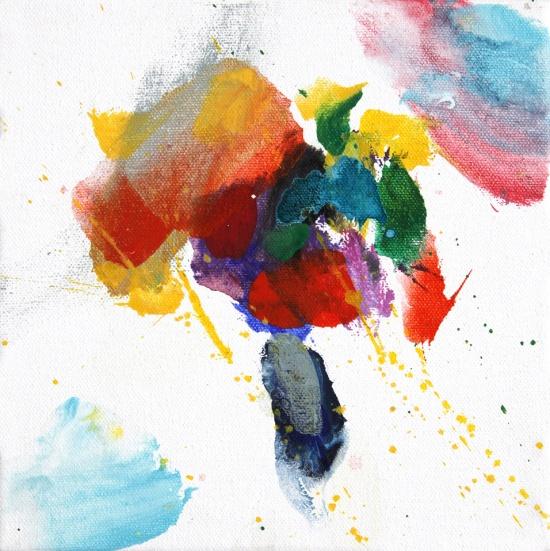 """Bolivian Rhapsody !!   8 x 8"""", acrylic on canvas"""