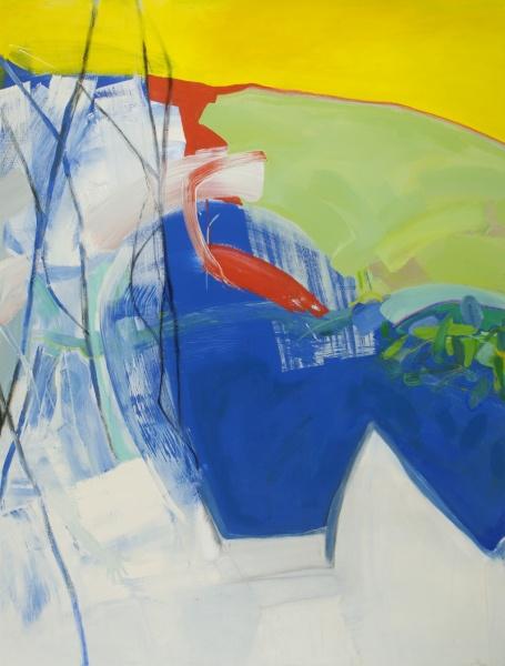 "Winter on Creek #5   66 x 50""  acrylic on canvas"
