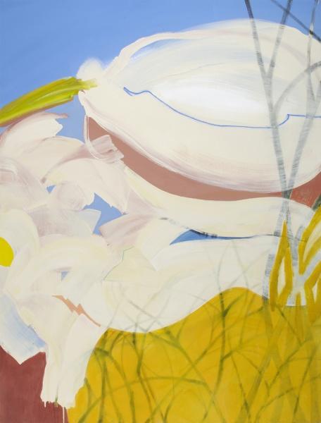 "Winter on Creek # 6    66 x 50"" acrylic on canvas"