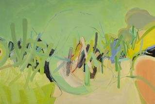 "Wetlands 7   48 x 72"" acrylic on canvas"