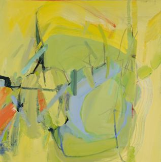 "Wetland 6   24 x 24"" acrylic on canvas"