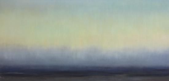 """Hemisphere   27.4 x 55.5"""" oil on canvas"""