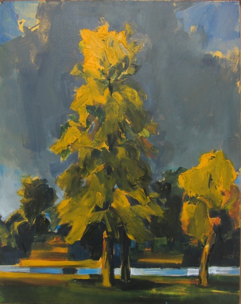 """Linden Tree, Equinox    20 x 16""""mixed media"""
