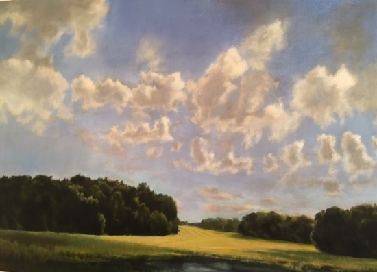 Patch of Clouds   oil on canvas