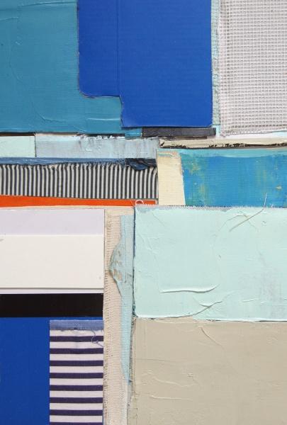 "Winter on Creek #7  66 x 50"" acrylic on canvas"