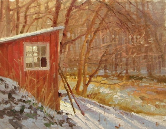 """Garden Shed   12 x 16""""oil on canvas"""