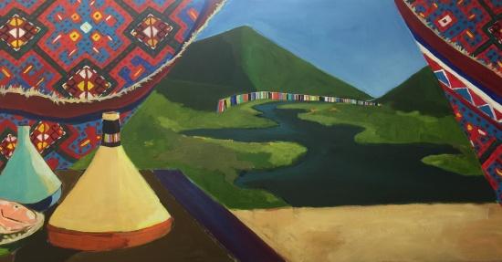 Catskill Cicim   24 x 48 acrylic on canvas