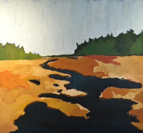 Logging Road 1   53 x 57, acrylic on canvas