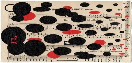 Hymnal, Collage by Maureen Mullarkey