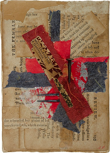 Crucifixus, Collage by Maureen Mullarkey