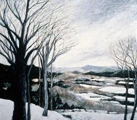 Black Tree   31 x 31, oil on wood panel