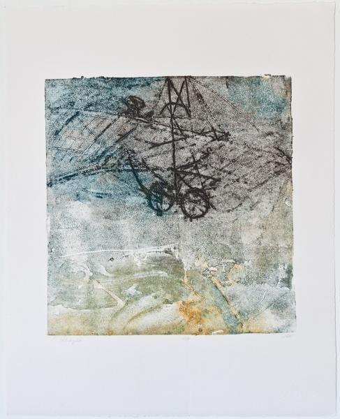"First Trial   18 x 22""  Carborundum print"