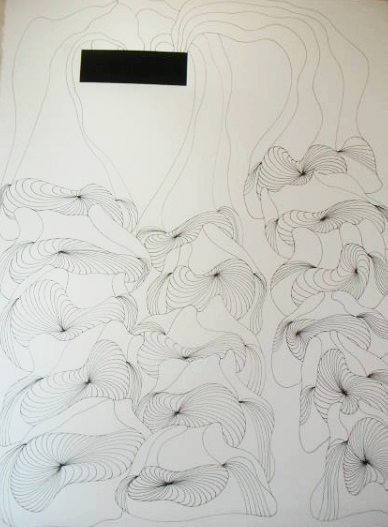 """From """"Morphing to the Vanishing Point"""" works on paper series."""