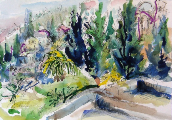 Safed   14 x 20, watercolor.