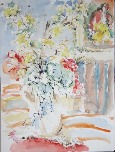 Flowers...   20 x 24, watercolor