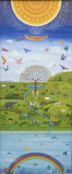 Peaceable Kingdom   25 x 60 oil canvas