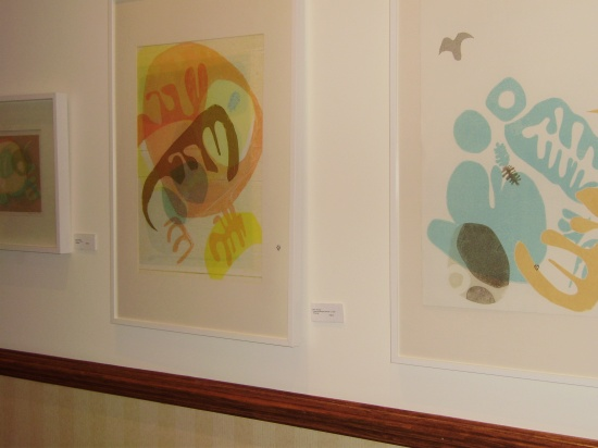Mary Manning, monotypes on spa wall..jpg