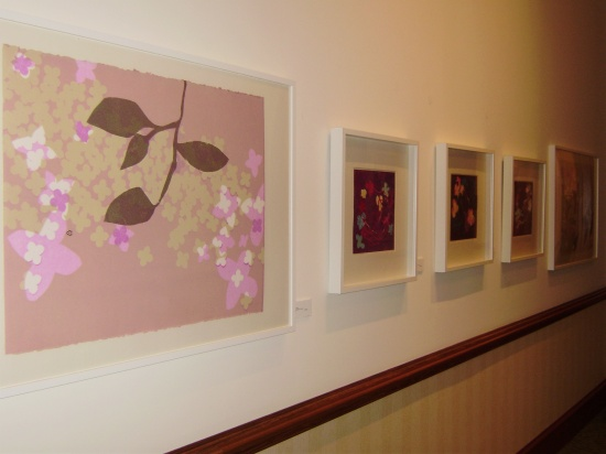 Mary Manning, monotypes on spa wall.jpg