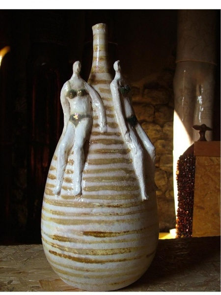 Paolo Staccioli, Ceramic Vase with bathers.jpg