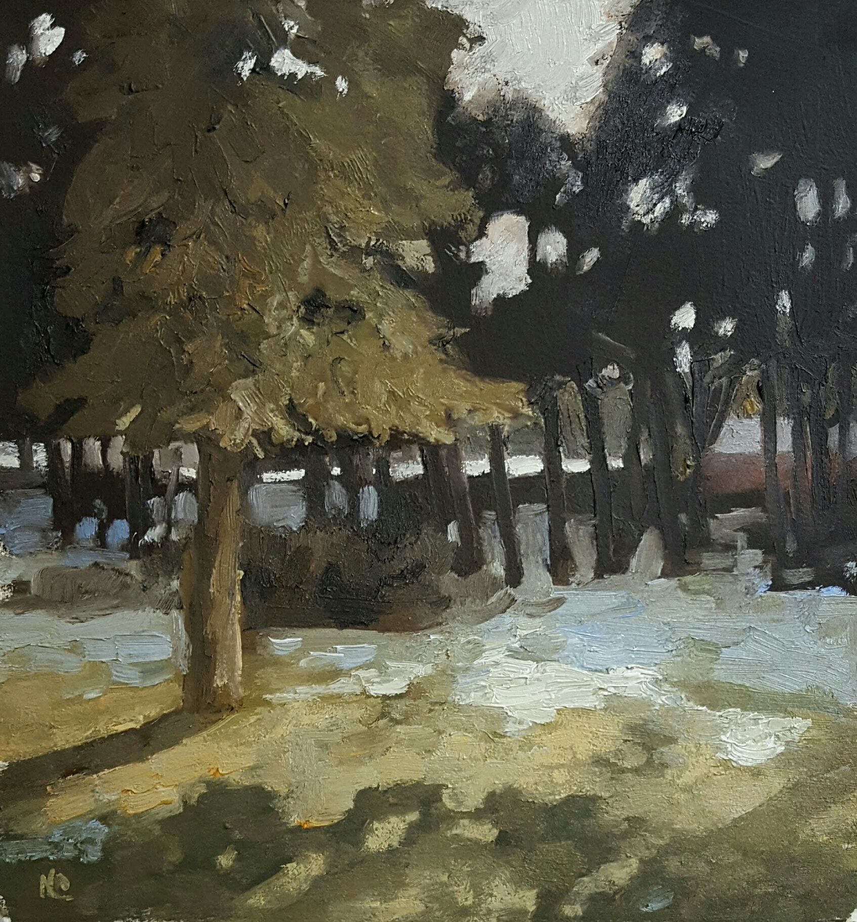"""End of Winter"" 18 x 15 oil on paper"