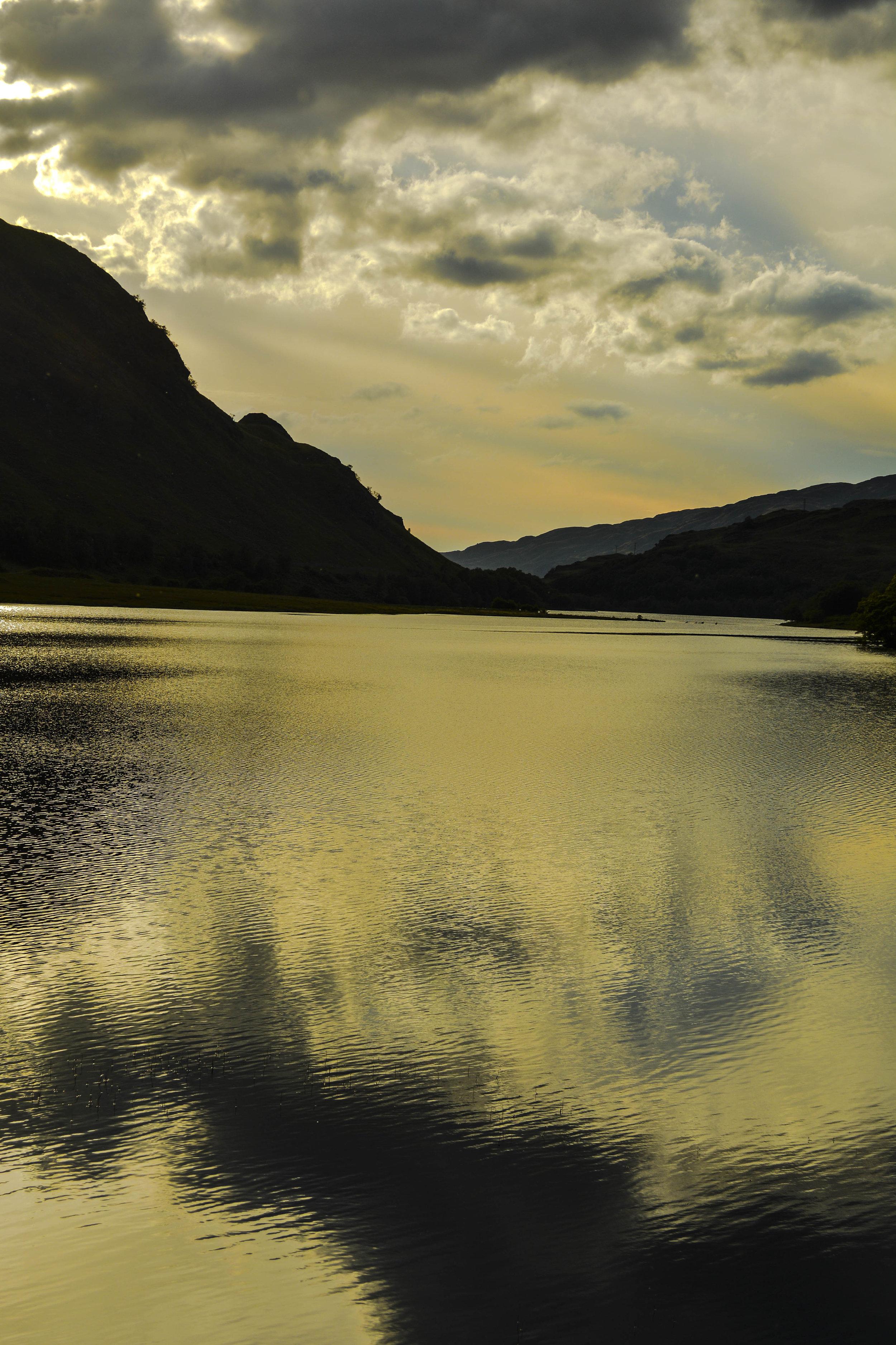 Loch Yin & Yang, 24 x 36, photo on metal