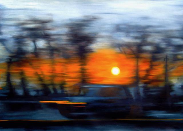 Leaving Town, Woodloch Dream, 35 x 50, oil on canvas
