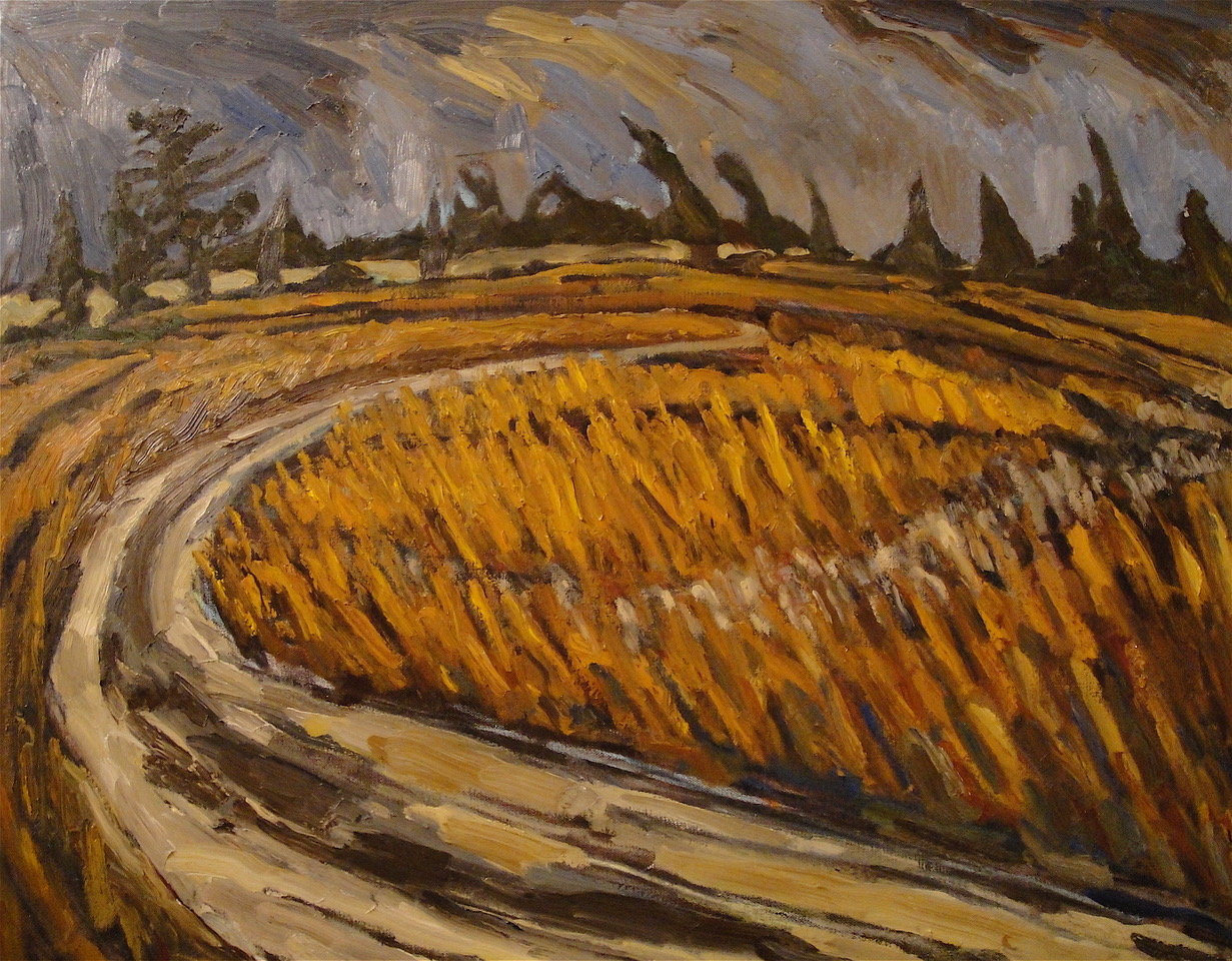Bend in the Road, 22 x 28, oil on canvas
