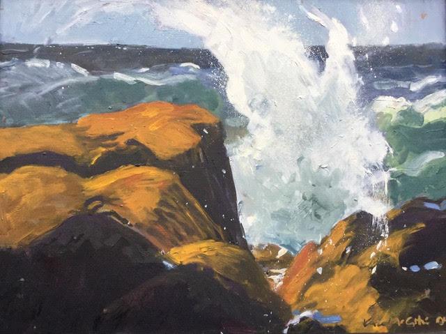"Kate McGloughlin ""Morning Surf"" 18 x 24 oil on canvas."