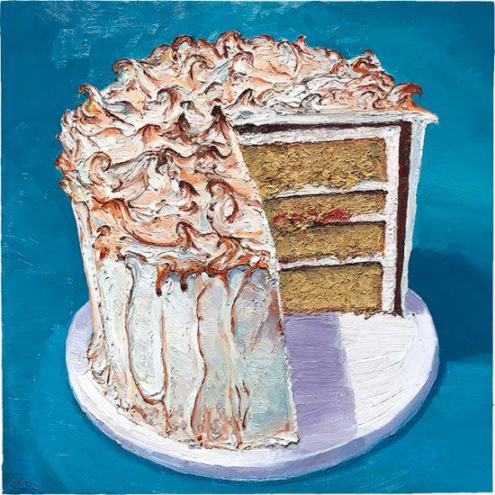 Smores Cake, 24 x 23, oil on panel