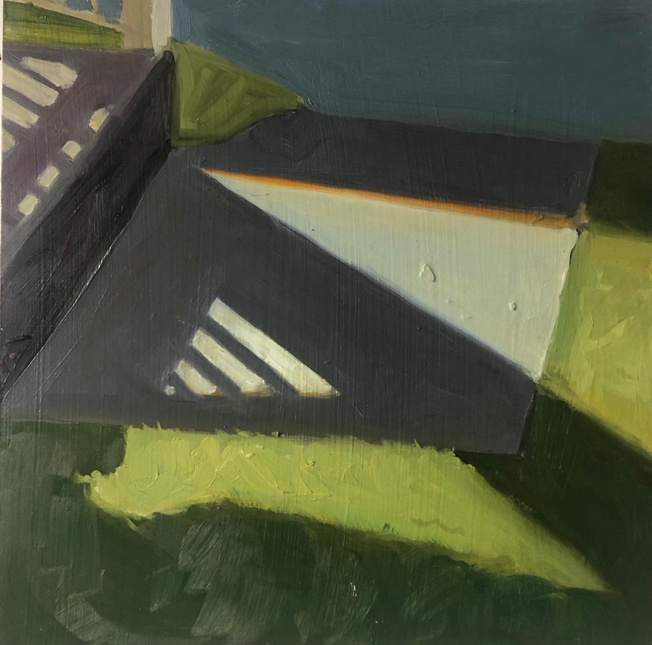 The Orange Stripe, 14 x 14, oil on panel.