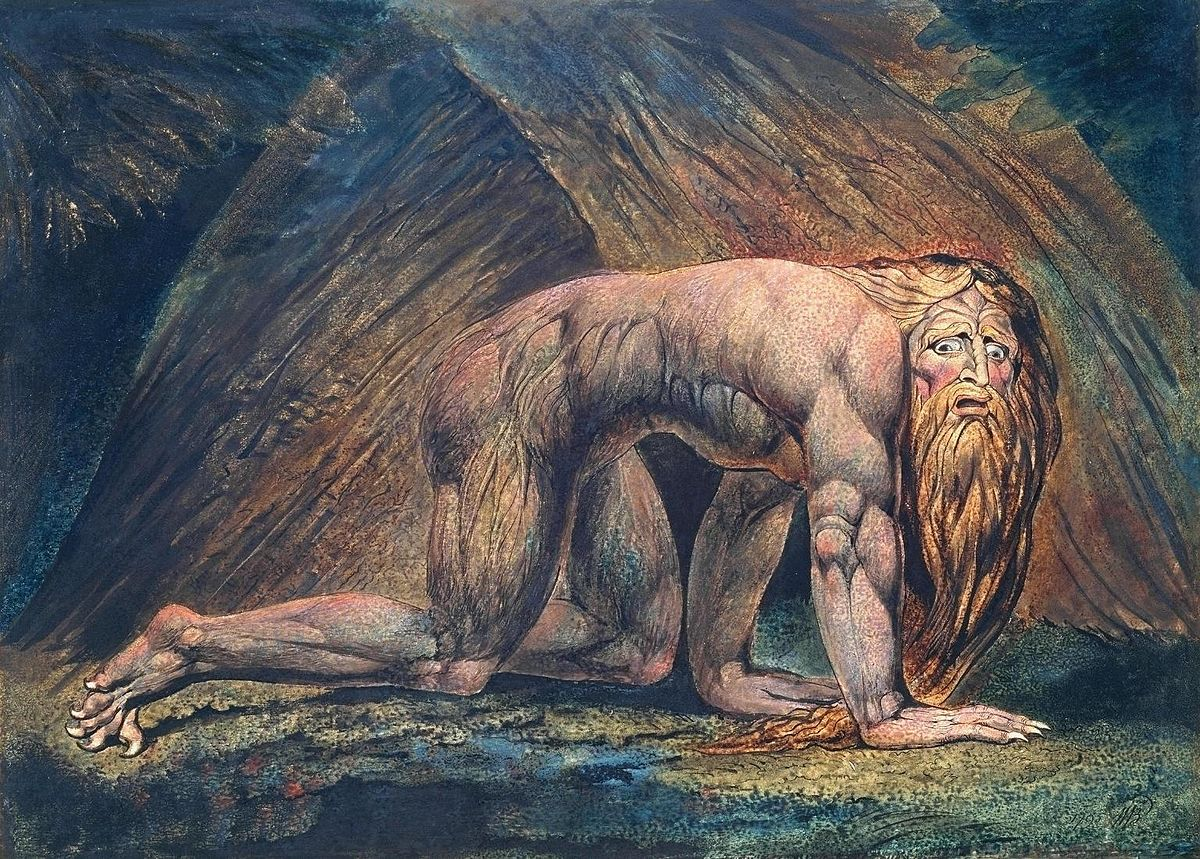"""""""Nebuchadnezzar"""" by William Blake, 1795"""