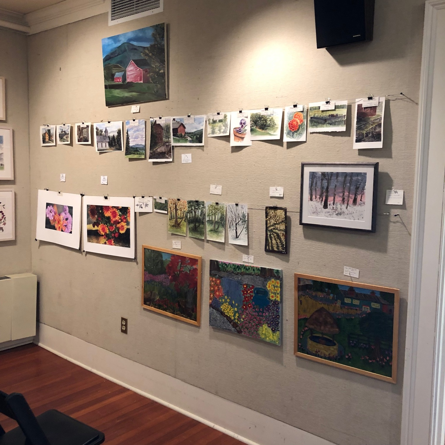 Unframed plein air work for display and sale at the Welles Gallery