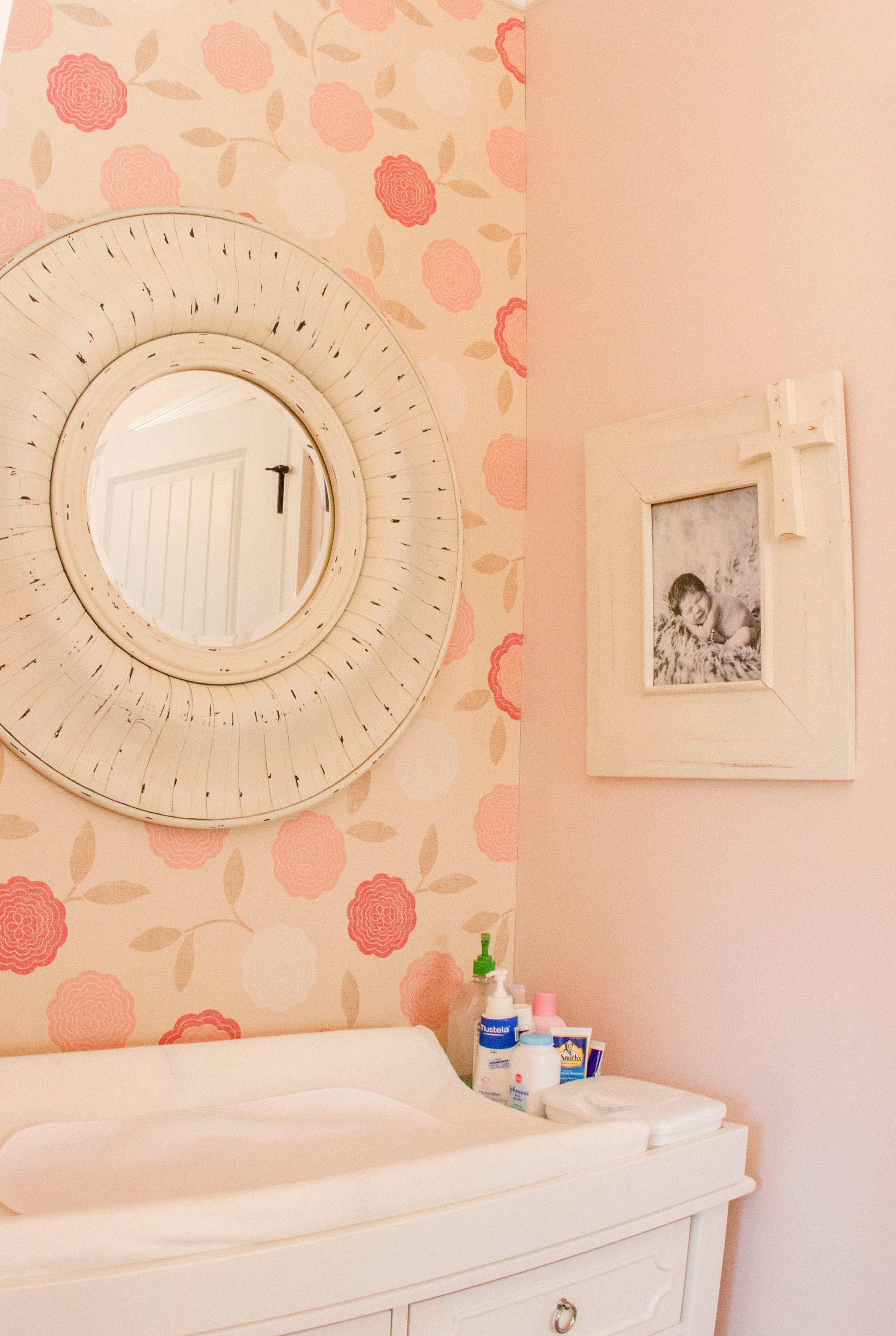 ellebrightdesigns.pinknursery.wallpaperflowers