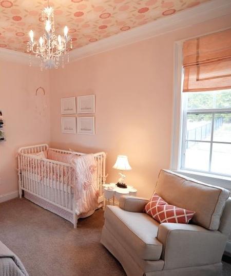 ellebrightdesigns.pinknursery.jennylind.wallpaperceiling.floralwallpaper