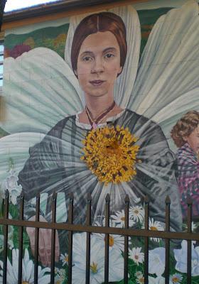 Emily Dickinson mural in Amherst, Massachusetts