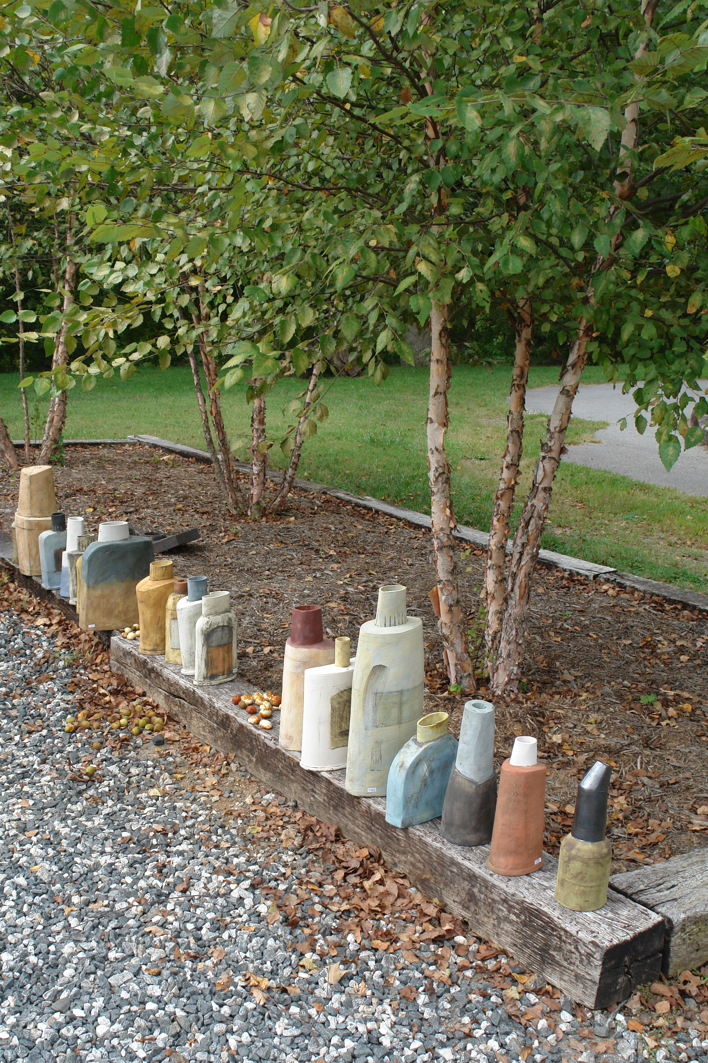 Birches and Pottery.JPG