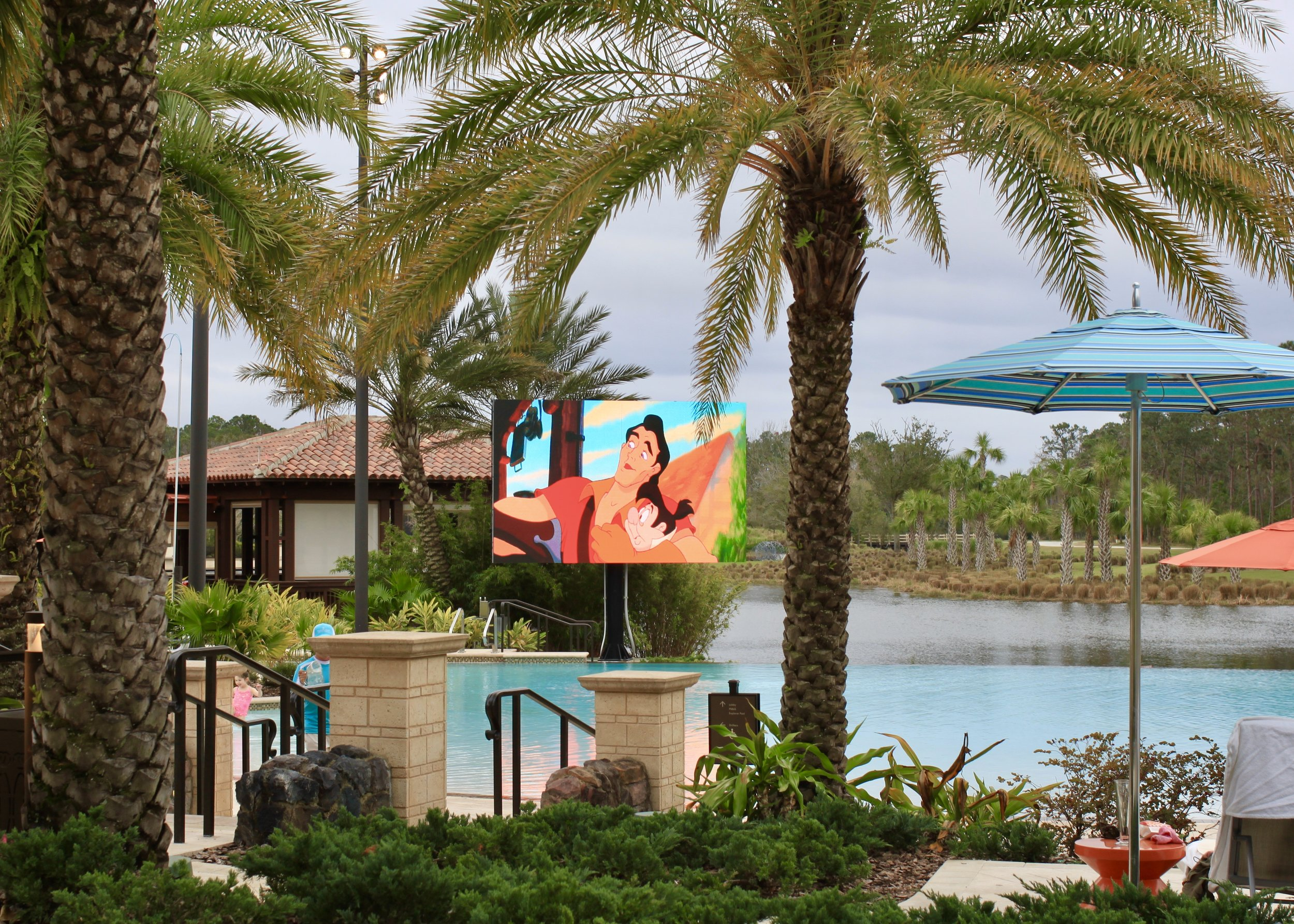 """""""Dive-In"""" movies at the Family Pool on Saturday nights"""