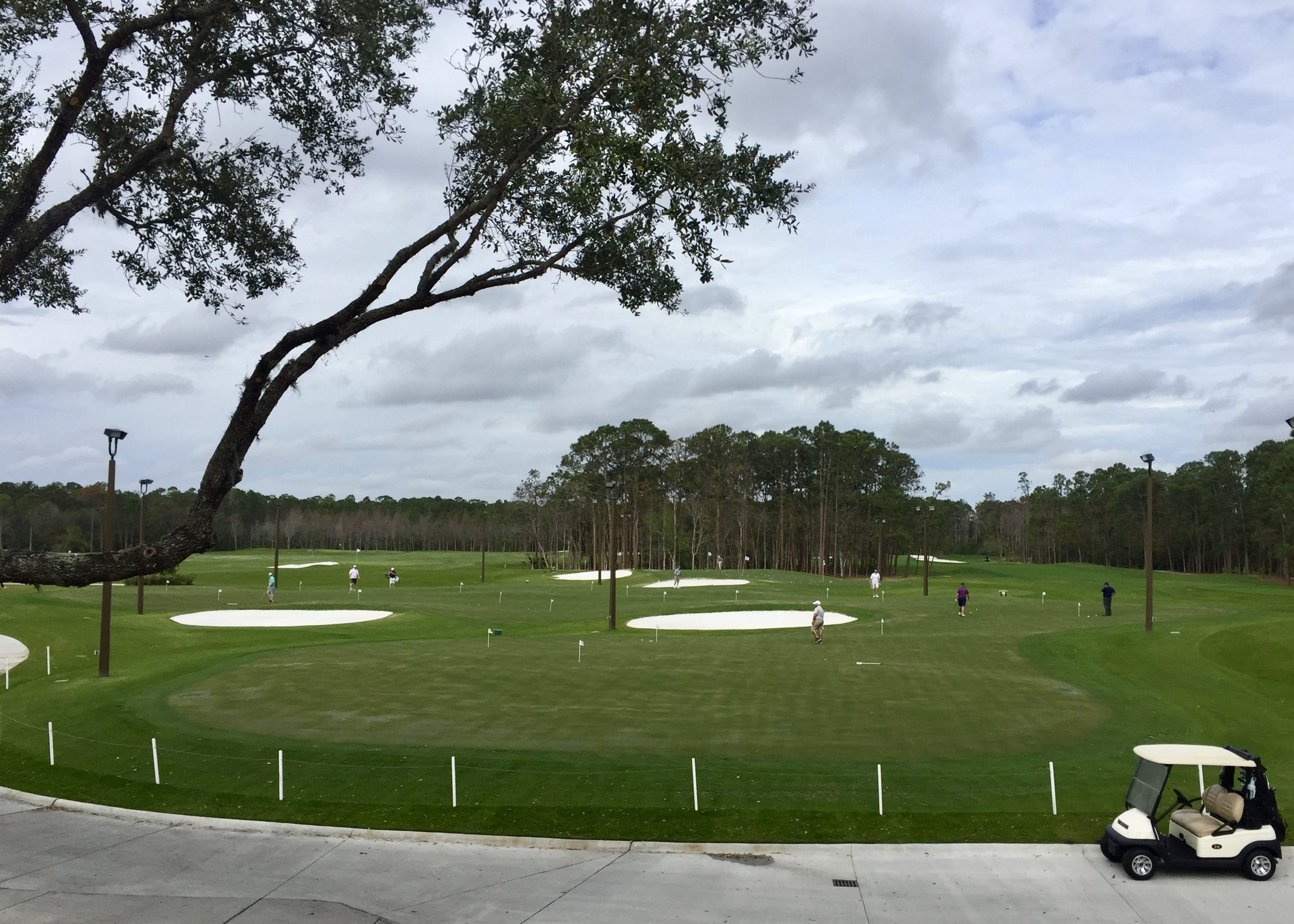 The 18-hole putting course at Tranquilo