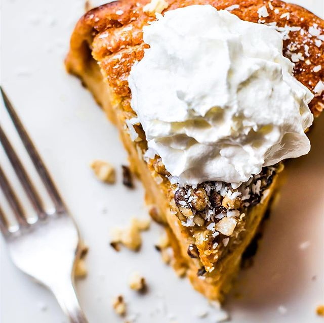 Next time you're celebrating something where a special dessert is in order try out this Paleo Sweet Potato Pie recipe from @cottercrunch .⠀ Direct link to recipe on Facebook. Link to Facebook page in bio @amandanighbertrd ⠀ .⠀ .⠀ .⠀ .⠀ .⠀ #sweetpotatopie #cleaneats #paleo #healthiersweets #paleobaking #healthyrecipes #carbcycling #progressnotperfection #LEANwithamanda #amandanighbertrd