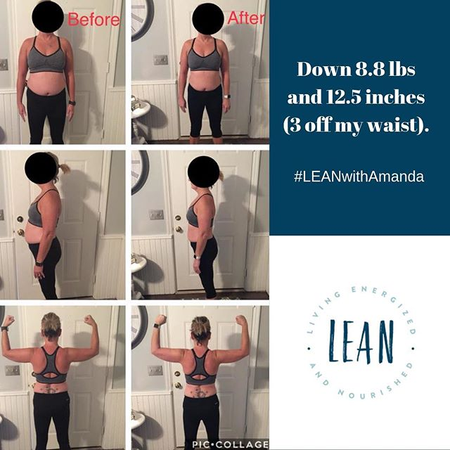 "Don't let exercise be the reason you don't start fixing your diet!  New session starts soon!  More info in my bio @amandanighbertrd .⠀ ""Down 8.8 lbs and 12.5 inches (3 off my waist). Very pleased with my results considering I didn't do the workouts. I will continue this lifestyle on my own and if I fall off the wagon, you'll be seeing me back 😊. Thank you for this program- it was definitely a game changer and very doable.""⠀ .⠀ .⠀ .⠀ .⠀ .⠀ #LEANwithAmanda #amandanighbertrd #fitnessgoals #fitfam #fitnessjourney #weightlosstransformation #weightlossjourney"