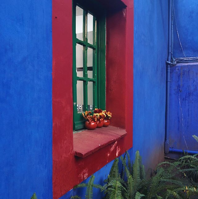 Belated post from our visit to La Casa Azul! My dream is to have a courtyard house (brightly painted, of course), a sunlit studio and a huge garden I can paint in all day juuust like this 😊 Frida was such a BA artist and woman, seeing the home she built was an amazing/inspiring experience 💖