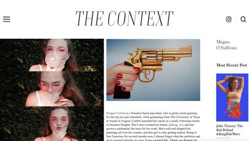 THE CONTEXTReagan Corbett: Pop Art's Top Gun - #CNTXT