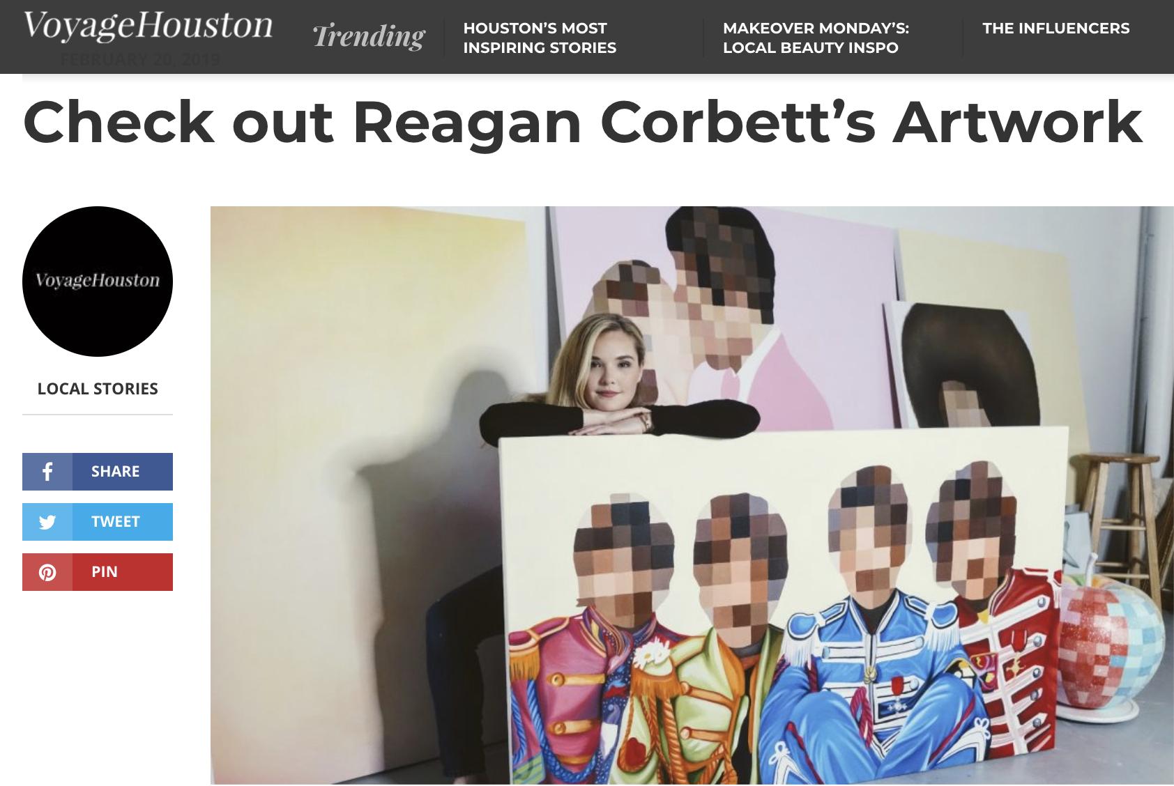 Voyage Houston - Houston's most inspiring stories: Check out Reagan Corbett's Artwork