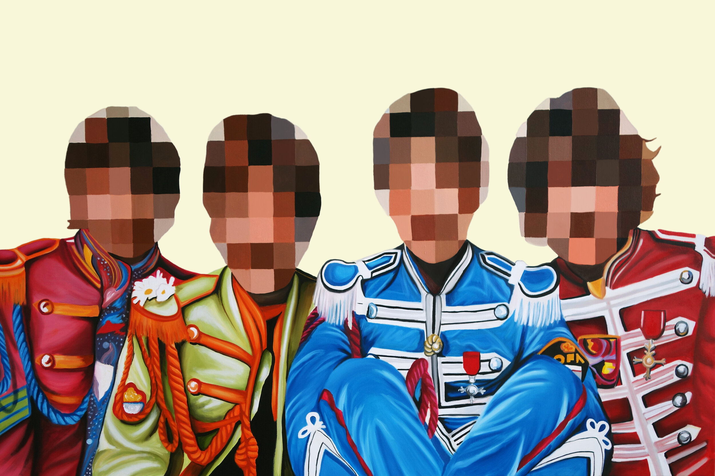 "Sgt. Pepper's Lonely Hearts Club Band   Oil & Acrylic on Canvas  36 x 60""  2019   Collected"