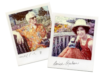 Manipulated polaroids of Mark D Roberts and Denise Rouleau outside of Como Conservatory