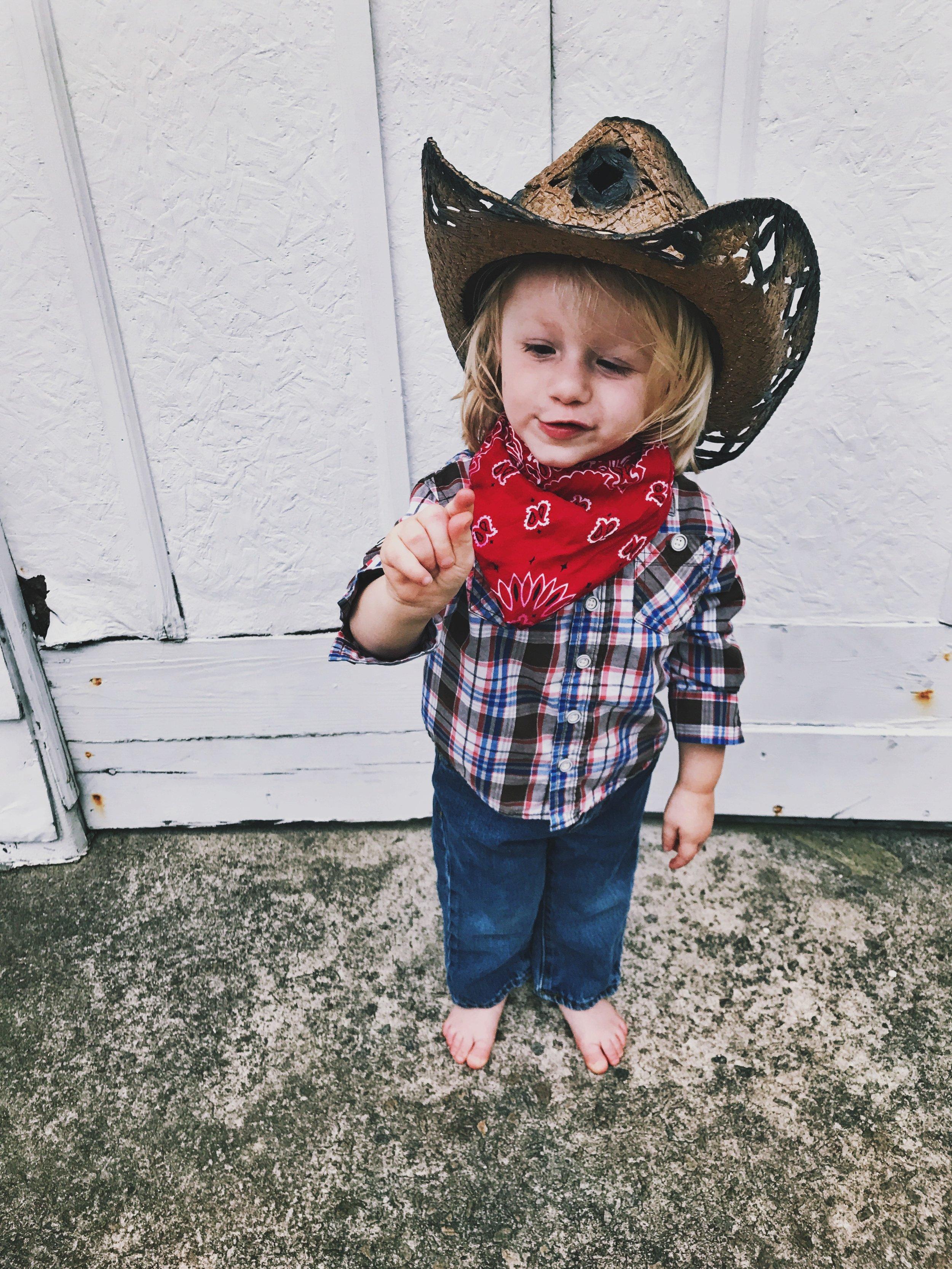 Just needs cowboy boots!