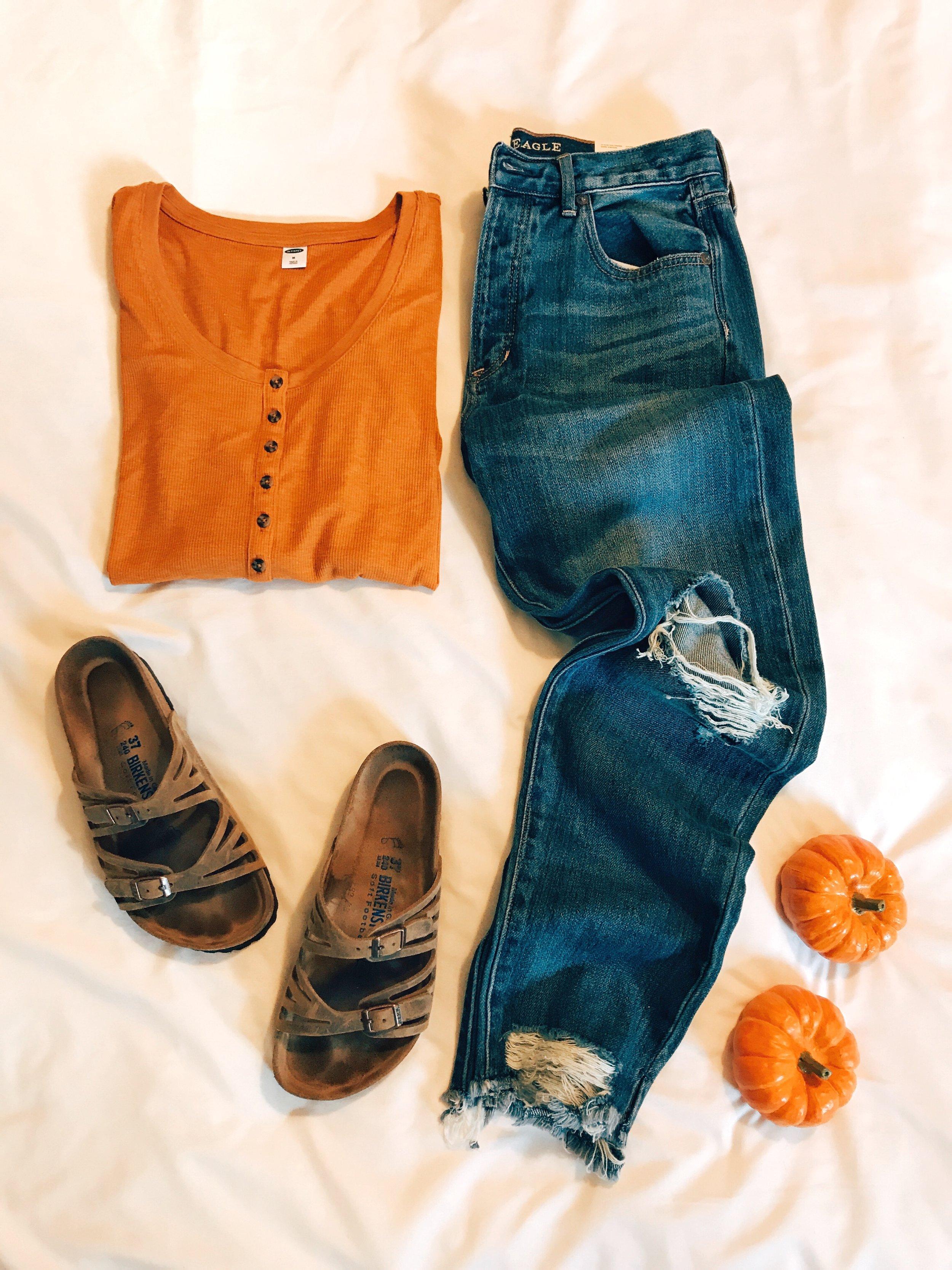 Henley  |  Jeans  |  Birkenstocks