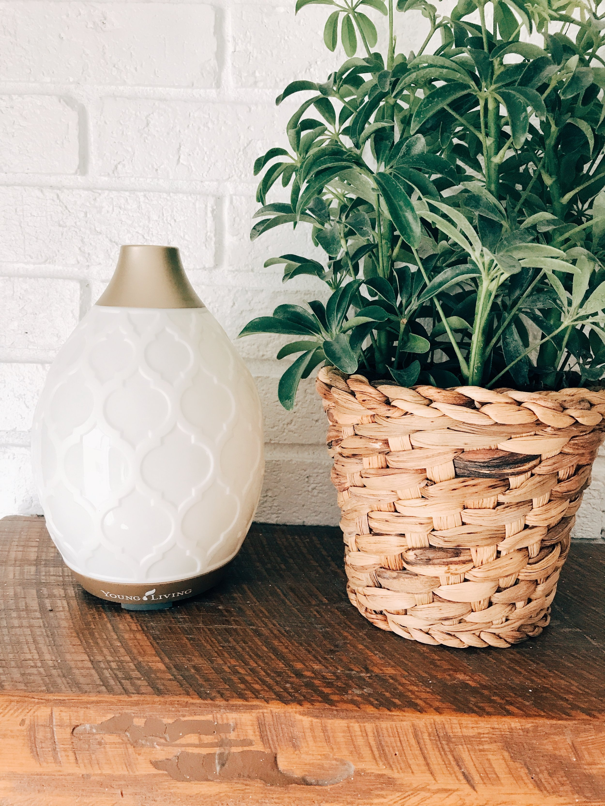 How pretty and farmhouse chic is this desert mist diffuser? It has several mood lighting features too ;)
