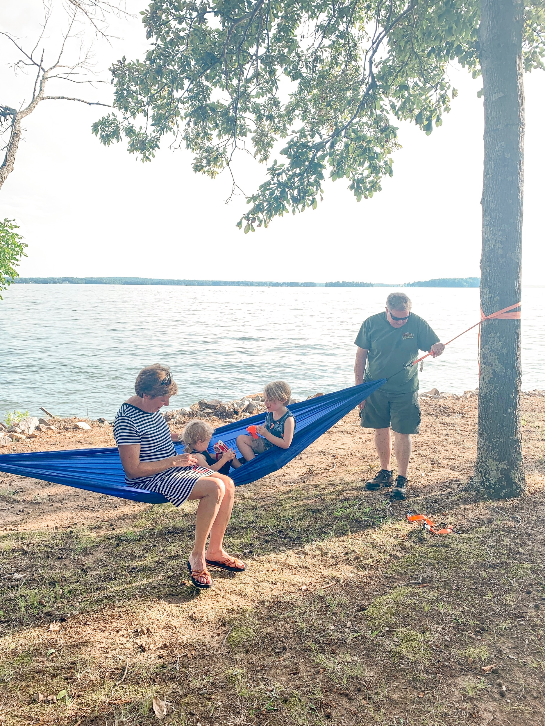 Having a water gun fight with the grandparents is a fun summer activity to do! We love visiting Lake Murray.