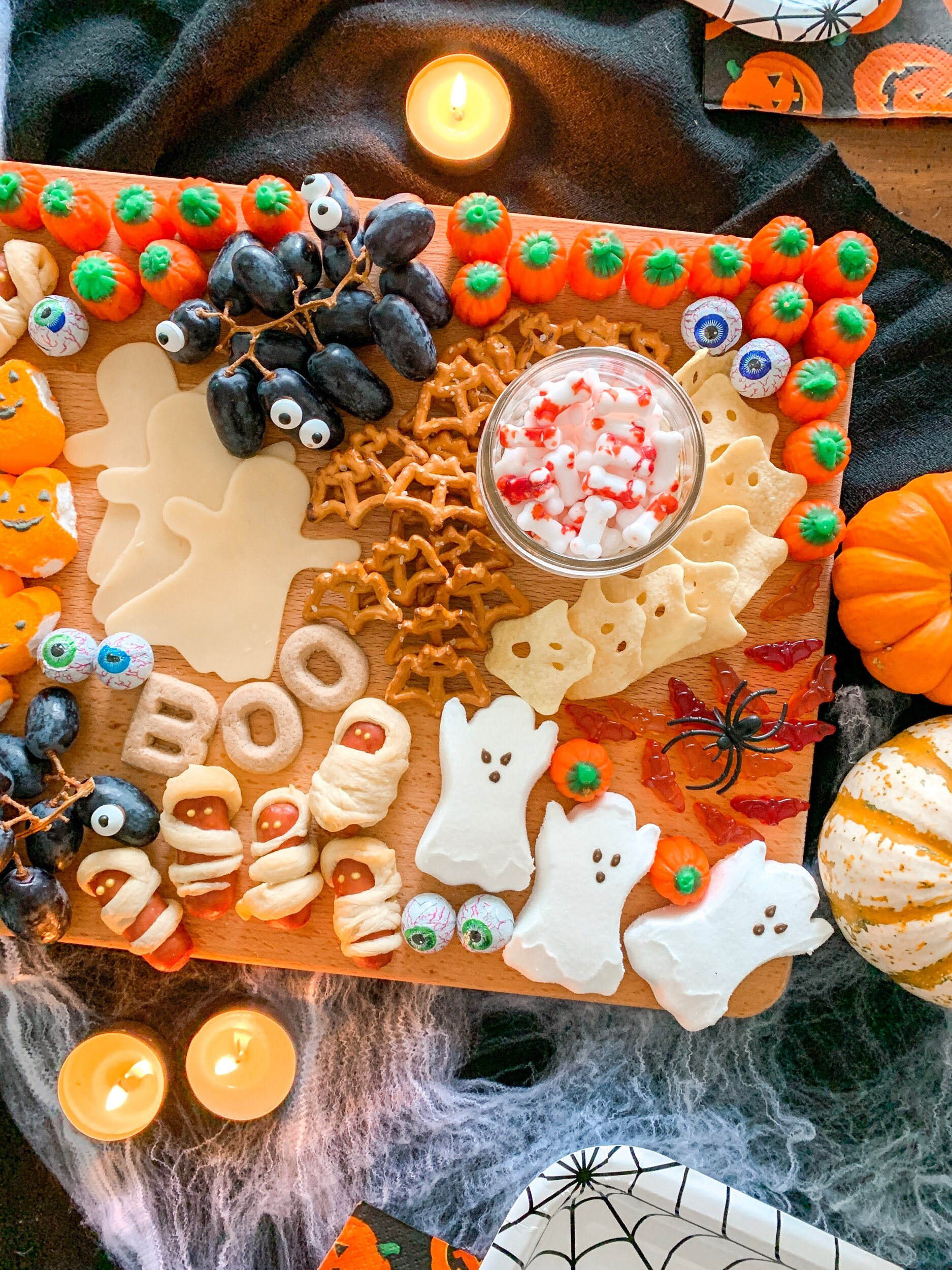 Little details and treats make a fun holiday charcuterie board
